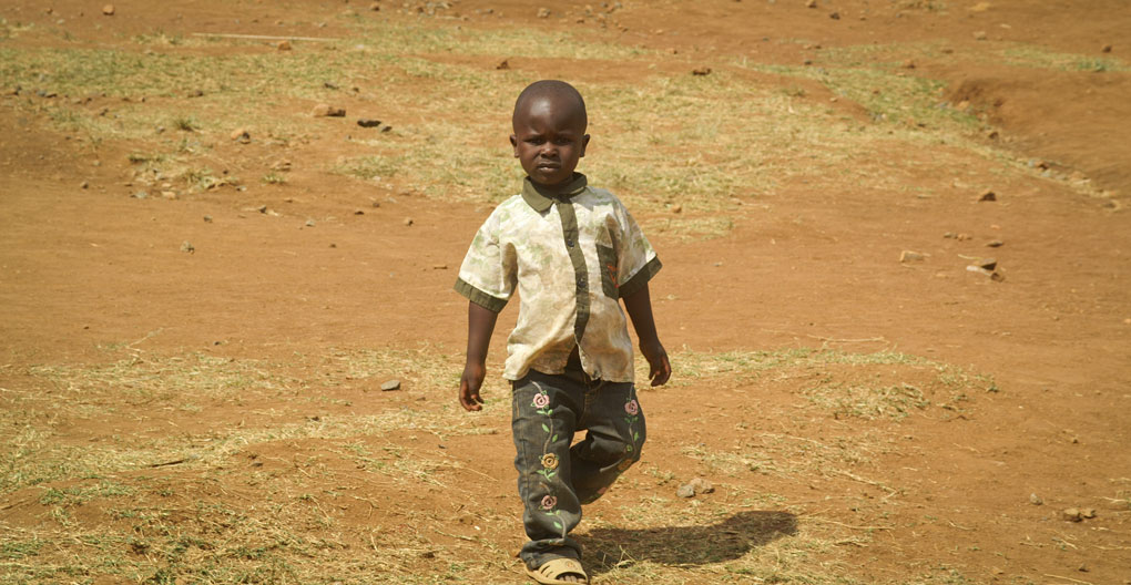 single child walking