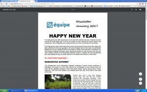 newsletter Jan 2017