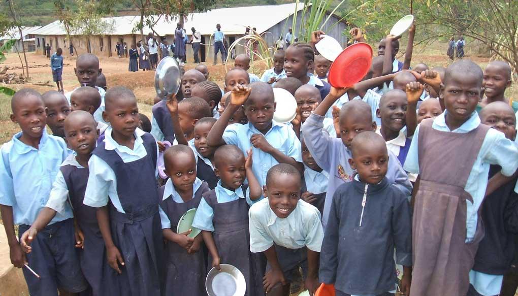 schoolchildren outdoors